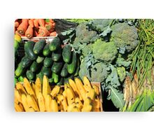 Fruits and Vegetables in Otavalo Canvas Print