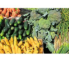 Fruits and Vegetables in Otavalo Photographic Print