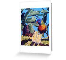 Lorikeet with Banksia Greeting Card