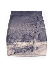 Curved Road Mini Skirt