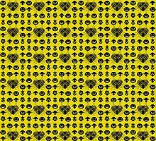 Majora's Pattern - Keaton Yellow by B-Shirts