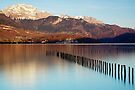 Springtime gold on Annecy lake by Patrick Morand