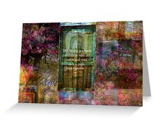 Saint Augustine BOOK Quote Greeting Card