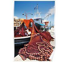 Fiskardo Fishing Boat Poster