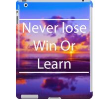 Never lose iPad Case/Skin