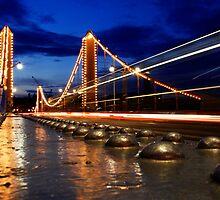 Chelsea Bridge By Night by DanRedrup