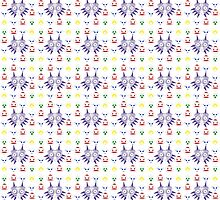 Majora's Pattern - Coloured Oulines by B-Shirts