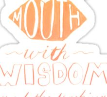 She Opens Her Mouth with Wisdom -Color Sticker