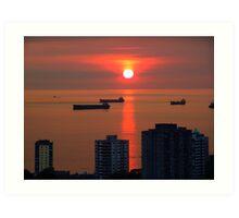 English Bay, Vancouver Art Print