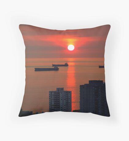 English Bay, Vancouver Throw Pillow