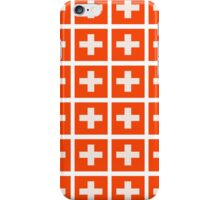 Swiss flag pattern which makes your eyes go squiffy iPhone Case/Skin