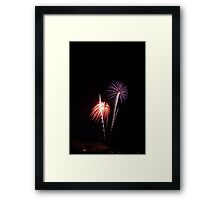 Two times the Fireworks Framed Print