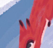 Slippery Red Fox Sticker
