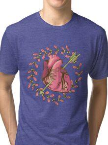 heart anatomical Tri-blend T-Shirt