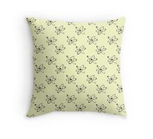 Atomic wallpaper Throw Pillow
