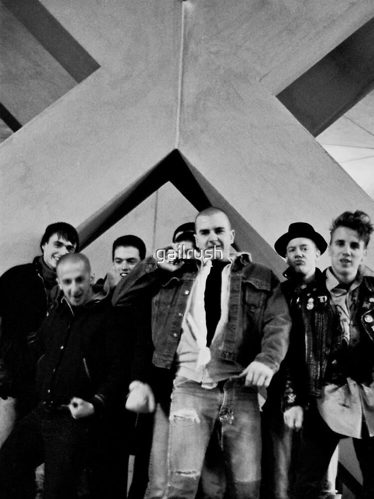 Under The Big X, Boston Crew 1981 by gailrush