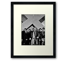 Under The Big X, Boston Crew 1981 Framed Print