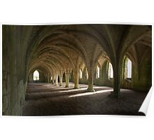 Fountains Abbey undercroft Poster