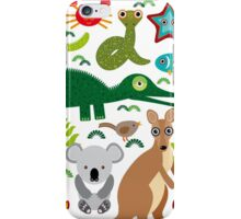 Australia: koala, snake, turtle, crocodile, alliagtor, kangaroo, dingo iPhone Case/Skin