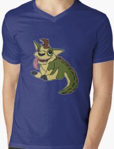 Crocapup Mens V-Neck T-Shirt