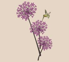 Hummingbird and flowers by Anastasiya Malakhova