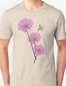 Hummingbird and flowers T-Shirt