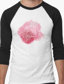 Peony flower Men's Baseball ¾ T-Shirt