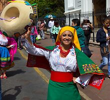 Join The Parade In Cuenca Ecuador by Al Bourassa