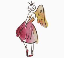 ballerina figure, watercolor Kids Tee