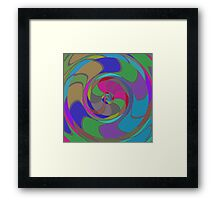 Colorful whirlpool Framed Print