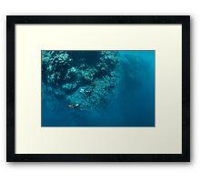 Wall Diving Framed Print