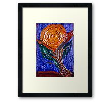 Painted Rose. Framed Print