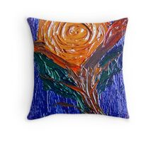 Painted Rose. Throw Pillow