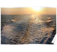 "Sailing into (or is it ""out of"" in this case?) the Sunset Poster"