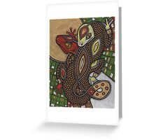 Conjoined (the Geckos) Greeting Card