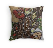 Conjoined (the Geckos) Throw Pillow