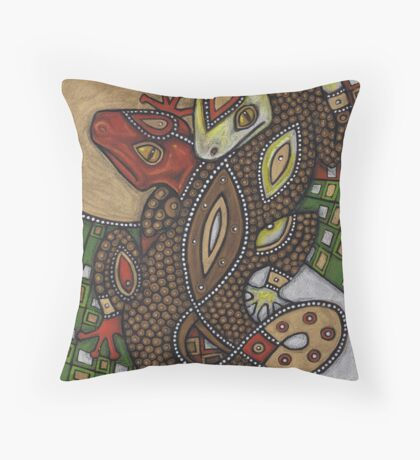 Conjoined (the Geckos) Throw Pillow