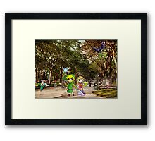 The Legend of Zelda: Central Park Framed Print