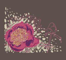 peony flowers One Piece - Short Sleeve