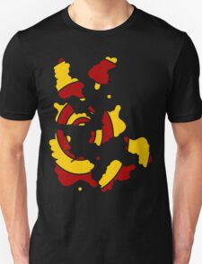 Broken spiral red and yellow T-Shirt