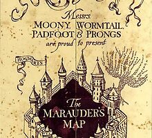 Map Harry potter castle, The Marauders Map by ReallityArtwork