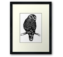 Hand Drawn Owl Framed Print