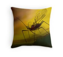 winged aphid Throw Pillow