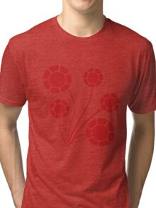 Red flowers Tri-blend T-Shirt