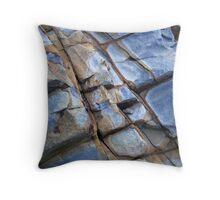 blue rock Throw Pillow