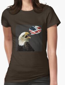 The Eagle Says Womens Fitted T-Shirt