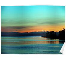 A Teal Sunrise Poster