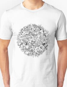 Floral Flower circle  Unisex T-Shirt