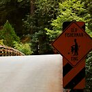 Fisherman Crossing Sign by BellaStarr
