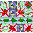 Aperiodic tiling of the plane christmas cards by Sophie Baer
